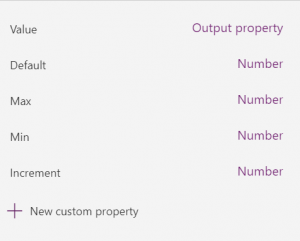 A component can have custom properties of any type.