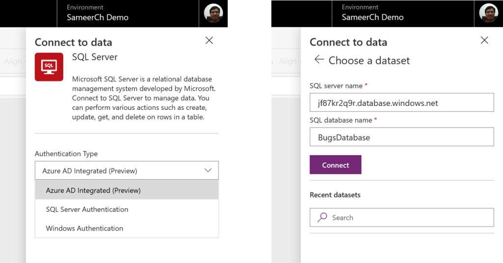 Connecting to SQL Server with Azure AD auth from PowerApps