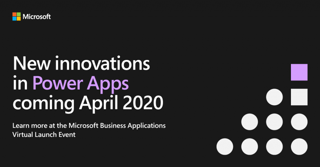 Microsoft Virtual Launch Event Power Apps image.
