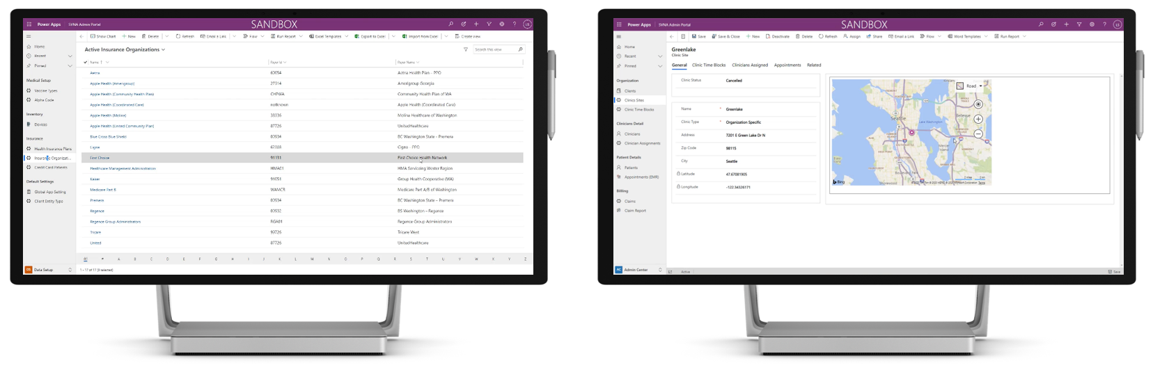 Screenshot of PowerApps model-driven apps