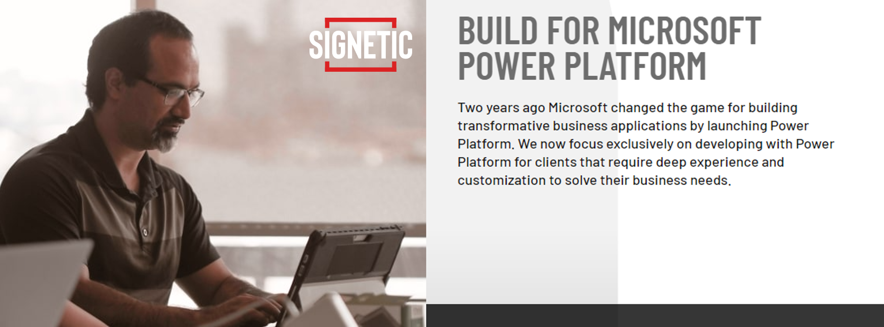 Banner image for Signetic - Microsoft Gold Partner.