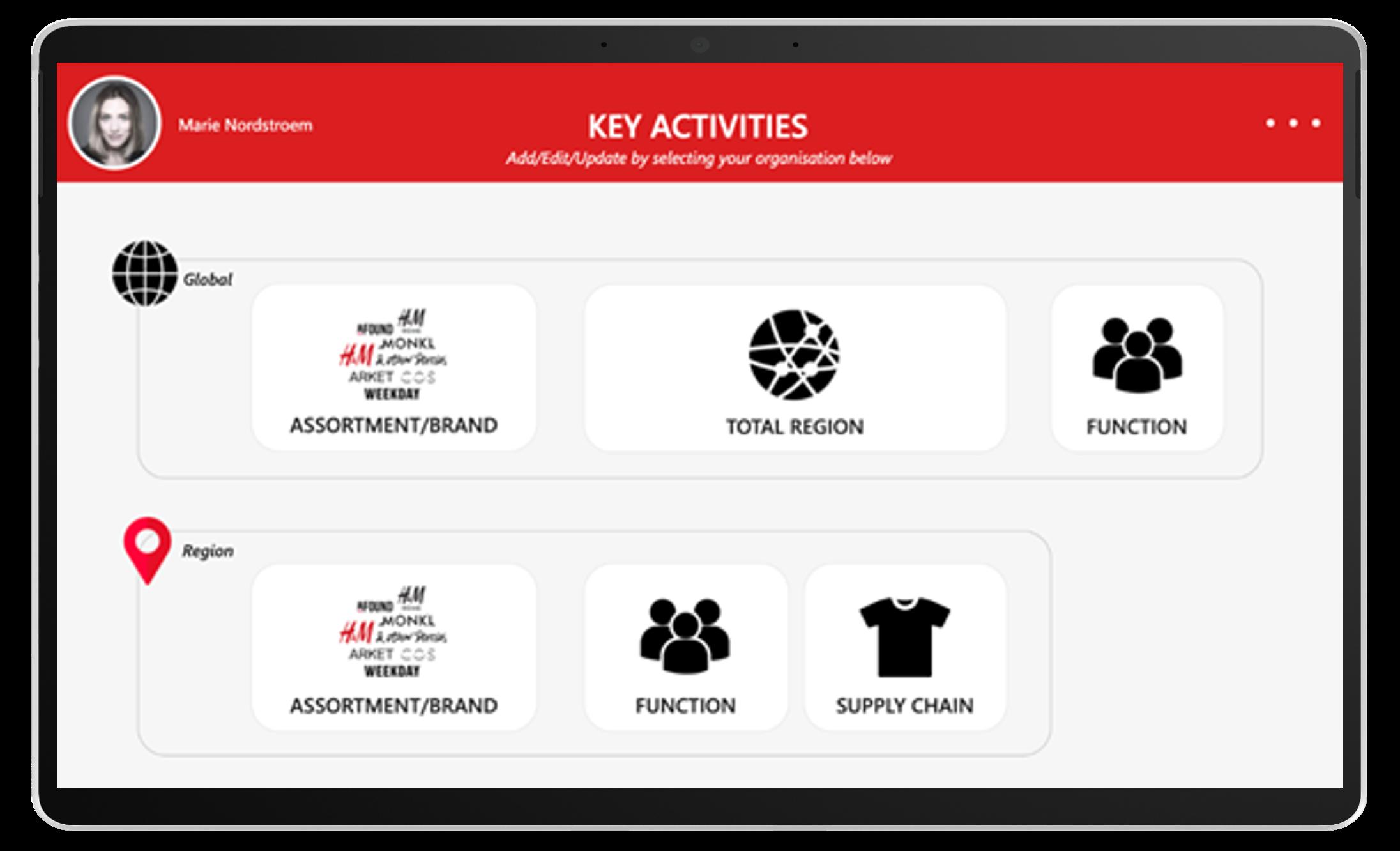 Screenshot of Power Apps solution - Key Activities app